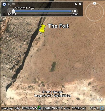 The fort at Gabac, Nugaal, 27 kilometers north of Dag Lahaa